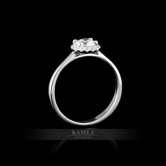 Sí collection - Sí-09. Zásnubný prsteň z 14 karátového zlata ... 6276bb87787